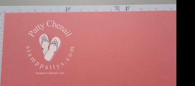 3D Window box card showing measurements for scoring on 12 x 12 cardstock