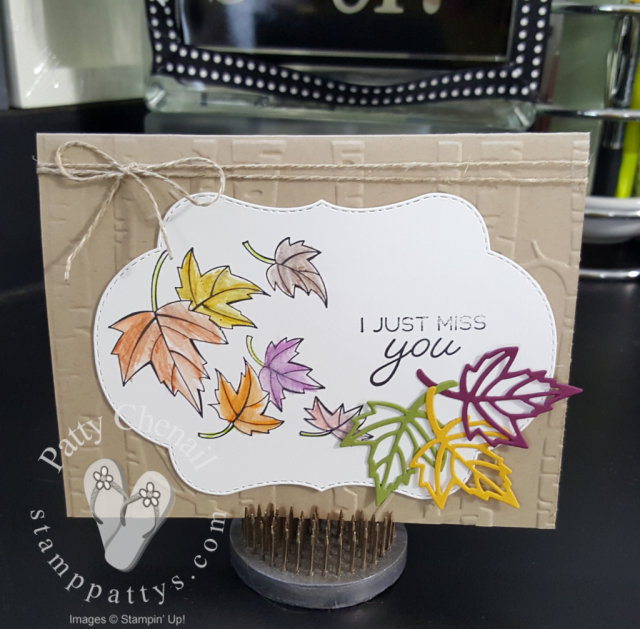 Fall leaves featuring the Blended Seasons Bundle from Stampin' Up!  watercoloring with watercolor pencil assortment 2