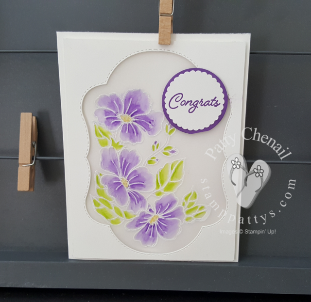 peek-a-boo velum card using blended seasons from stampin' up.