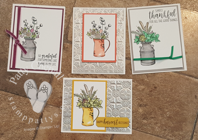 country home stamp set brought to life using Stampin' Blends alcohol based markers