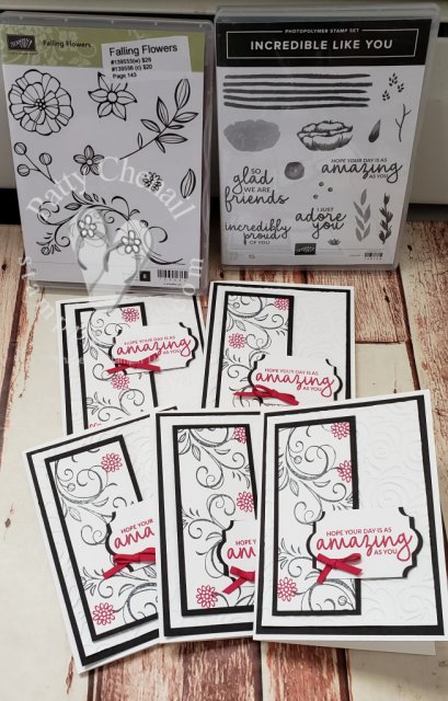 Falling Flowers meets Incredible Like You stamp sets