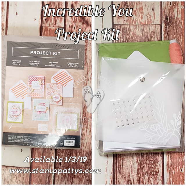Incredible Like You Project kit debuts Jan 3, 2019 in the Occasions catalog!