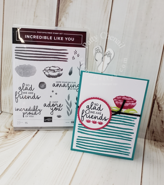 Incredible Like You friendship card showcasing the Incredible Like You stamp set from the Occasions 2019 catalog