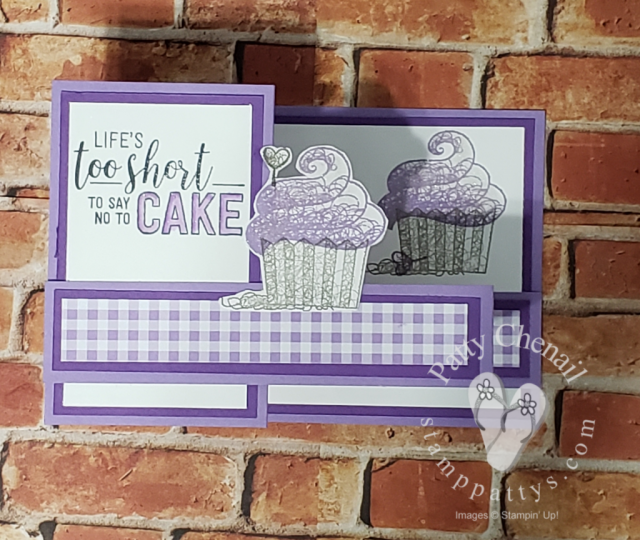 Z-Fold Hello Cupckake birthday card video on youtube gingham gala designer series paper