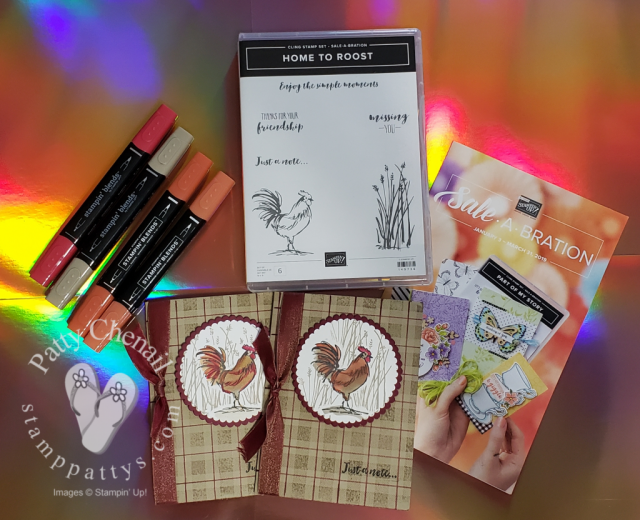 Home To Roost stamp set available free from stamppattys and stampin up until March 31, 2019