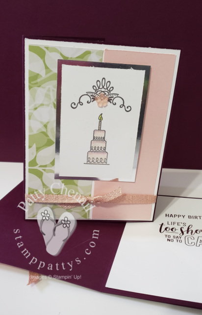 Heat Embossed with silver emboss powder, colored with Stampin' Blends. Amazing Life stamp set to create amazing birthday card.