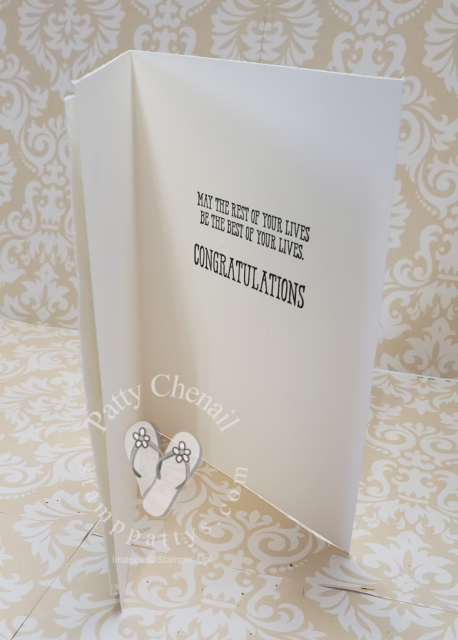 Stampin' Up! Well Said bundle meets Artfully Aware to create this beautiful wedding card.