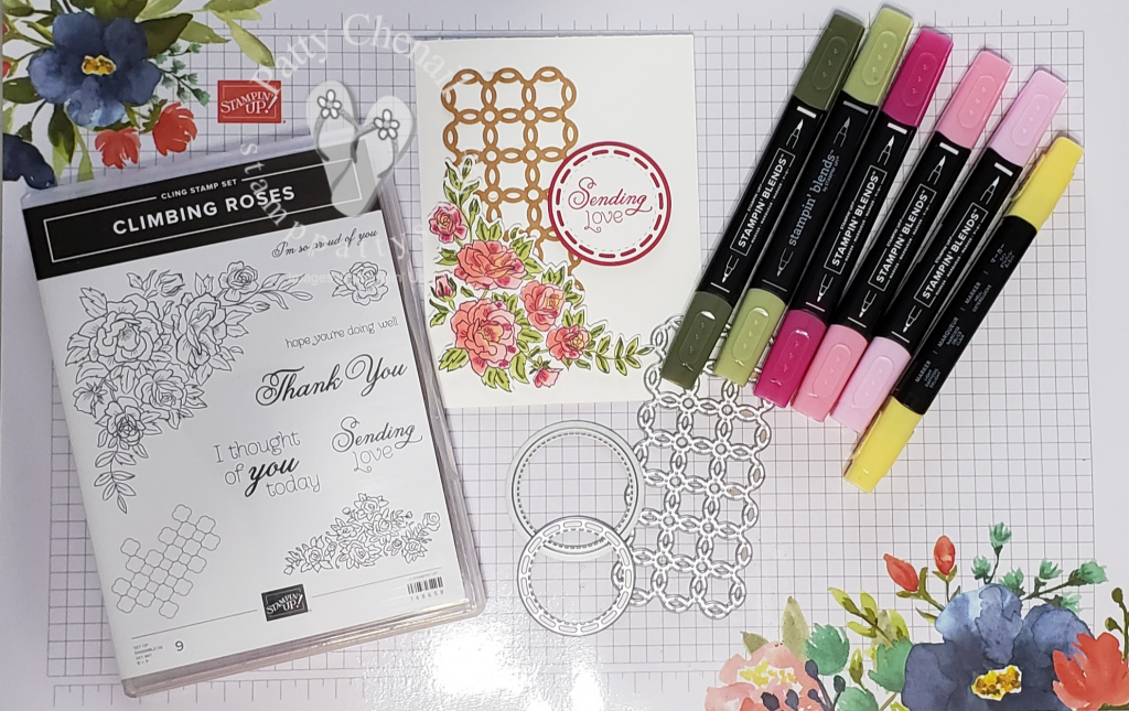 Climbing Roses come to life with Stampin' Blends!