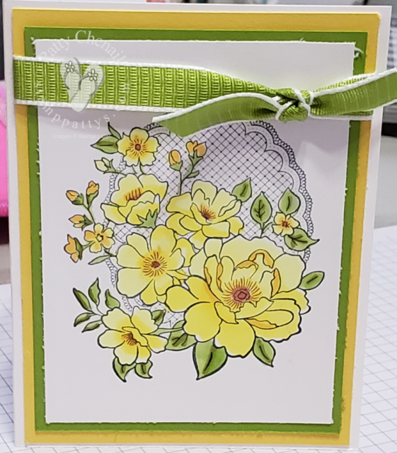 Created using the FREE stamp set, Lovely Lattice, available only until March 31, 2019 with a $50 minimum order.  Colored using our Stampin' Blends with the colors posted here on my blog.