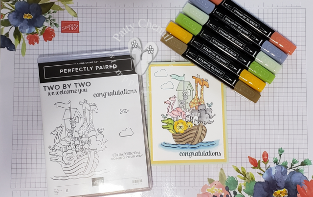 Perfectly Paired is an adorable stamp set from the Occasions 2019 catalog that longs for you to be creative with coloring.  Choose between our blends, watercolor pencils, or aquapainters and ink refills.  Your choice to make this adorable image come to life!