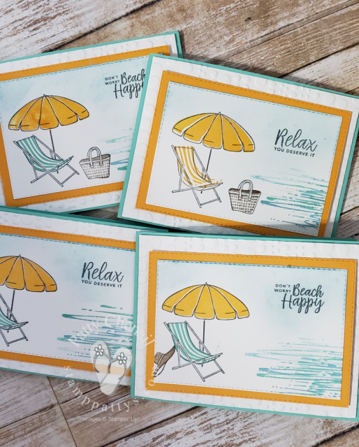Created these awesome cards using the soon to be retired stamp set Beach Happy.