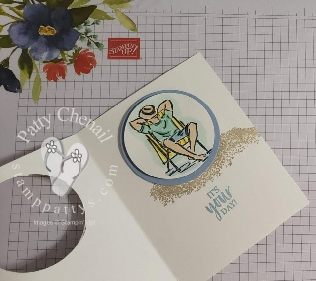 This card was created using the One good Guy stamp set from the upcoming 2019-2020 Annual Catalog along with our Stampin' Blends and the High Tide Stamp Set.