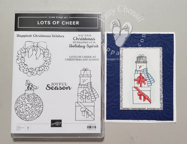 Lots of Cheer Snowman CardI created this project using the Lots of Cheer Stamp Set from the 2019-2020 Annual Stampin' Up! Catalog.  It is colored with our fabulous Stampin' Blends.