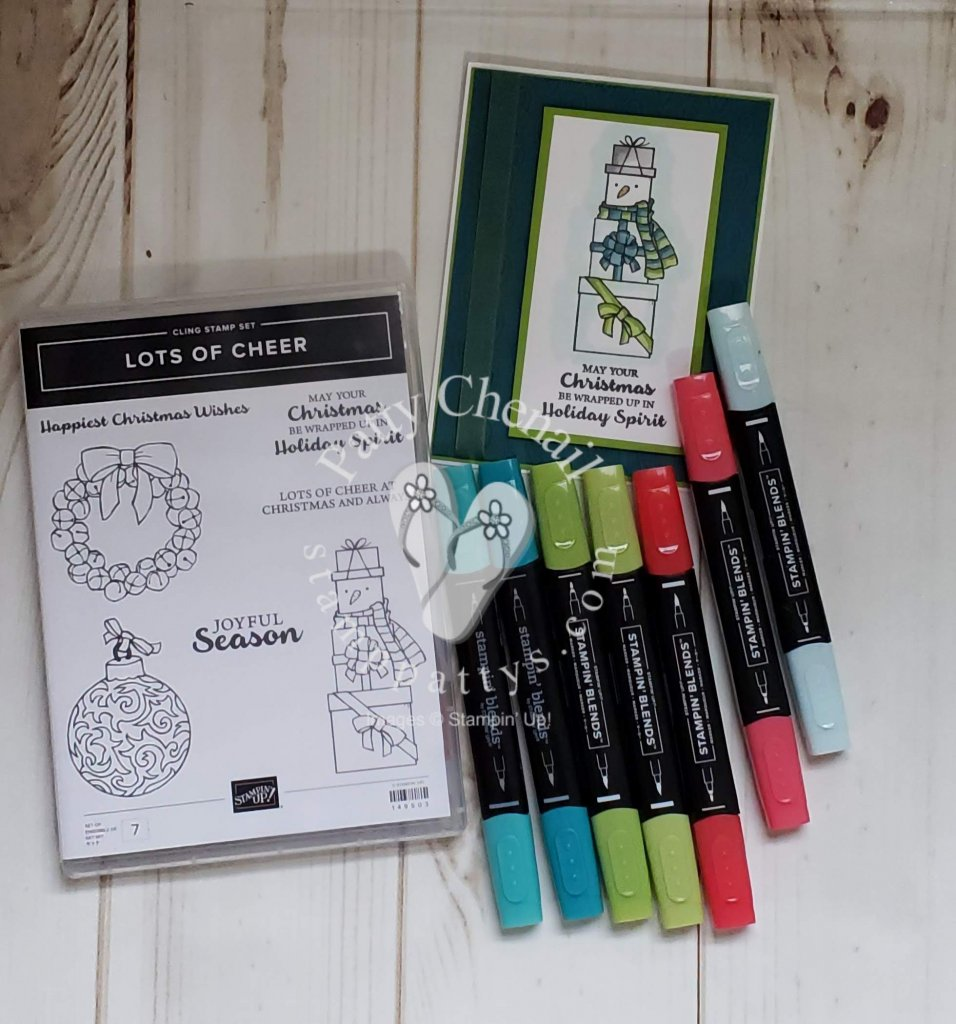 Christmas in July using Lots of Cheer stamp set from Stampin' Up!