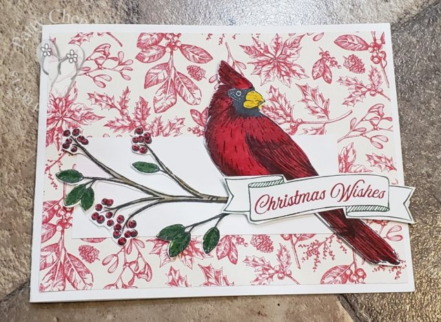 Using the Toile Tidings product suite from the 2019 Stampin' Up! Holiday Catalog, and a few other products,I created this beautiful project that is sure to delight the recipient!
