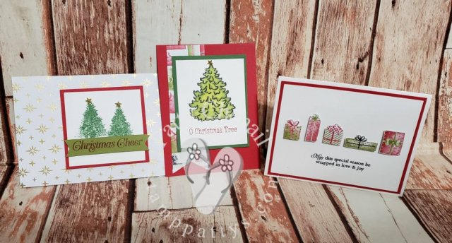 Projects created using The Most Wonderful Time product medley exclusively from Stampin' Up! 2019 Holiday Catalog. Amazing what you can create with a few stamps, some ink, and beautiful paper!
