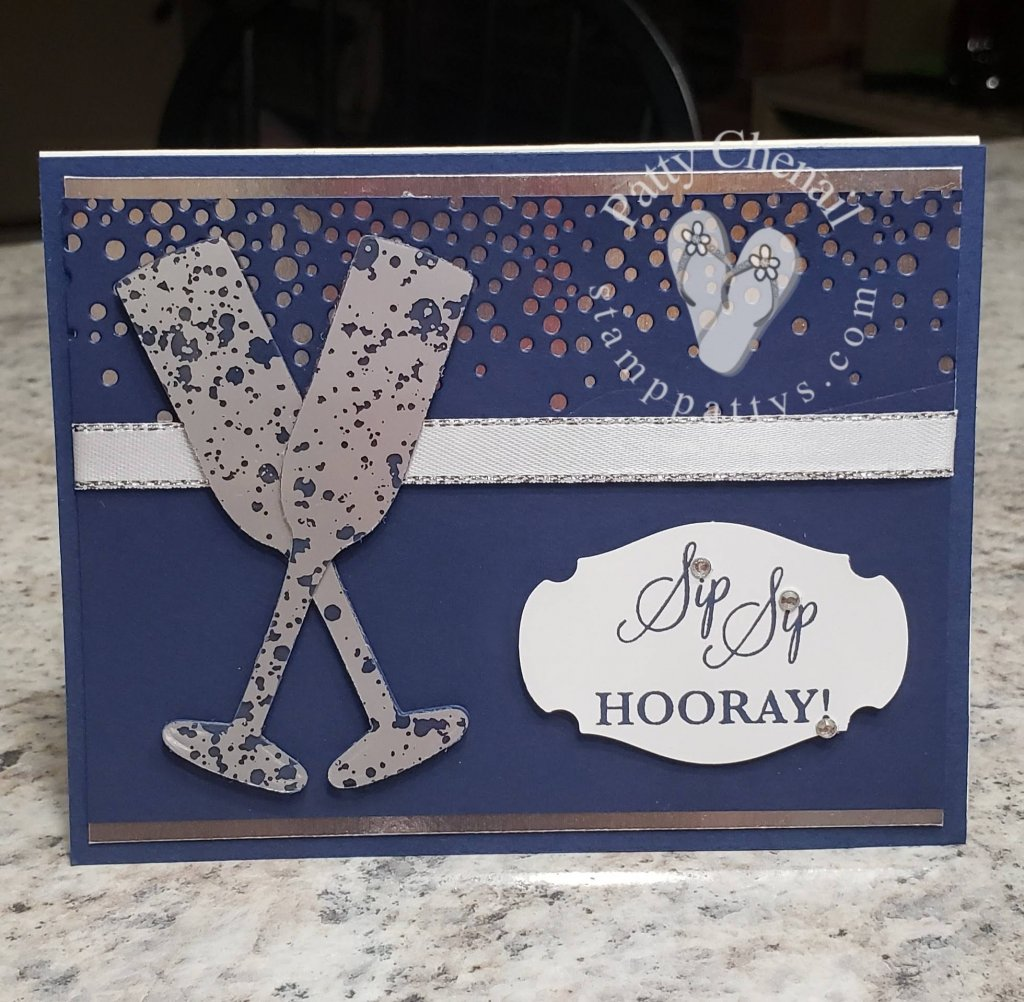 Mercury Glass Acetate Sheets and Sip, Sip Hooray create an incredible affect on today's project! Check it out!