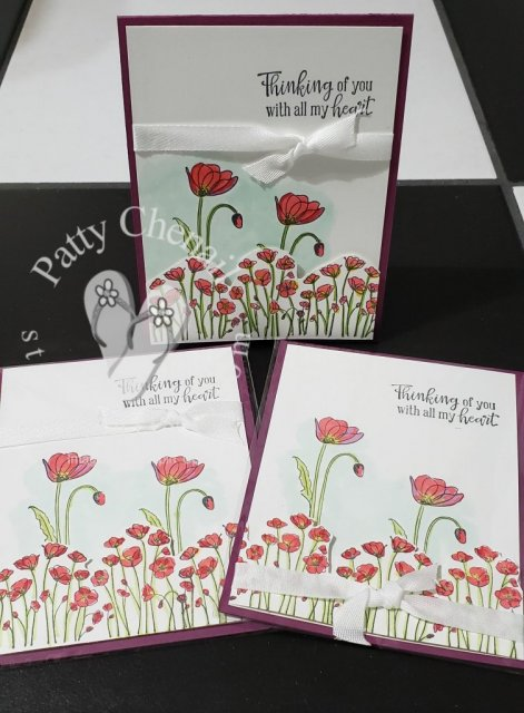 Using the Peaceful Poppies product suite from Stampin' Up!, this is one of MANY projects you can recreate! Visit my online store now to get your materials!