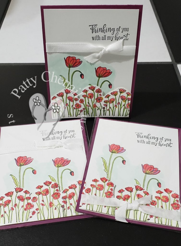 Painted Poppies meets Stampin' Blends…read on for details on today's project!