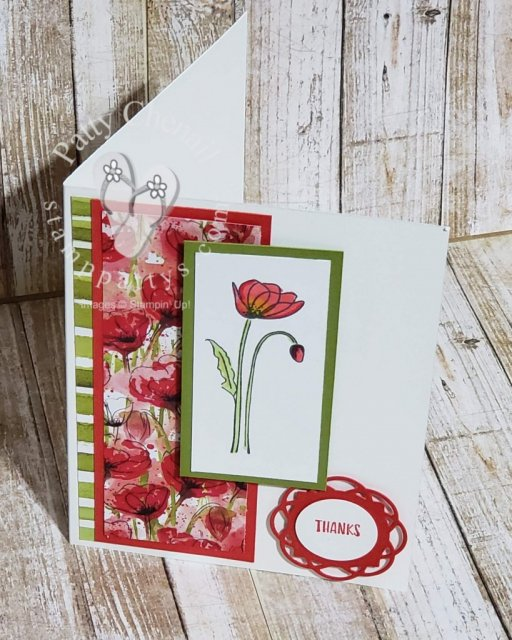 Peaceful Poppies are a great way to to remember someone special or to say thank you. Get these products exclusively from Stampin' Up!