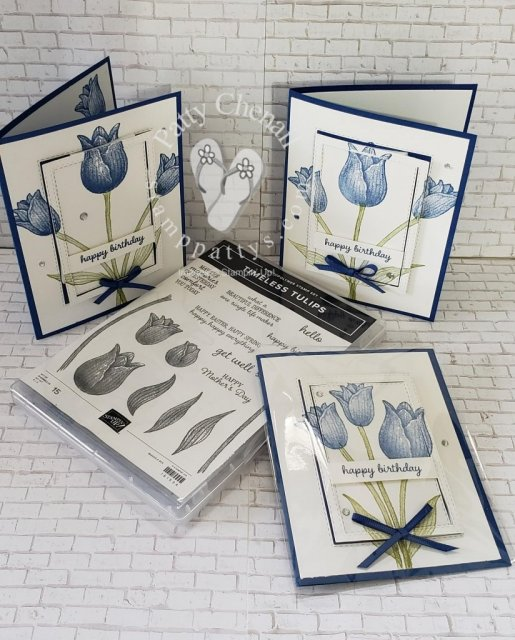 Tiptoe through the tulips with the Timeless Tulips bundle from the Stampin' Up! January to June 2020 catalog! Combine it with the color of your choice to create timeless creations!!