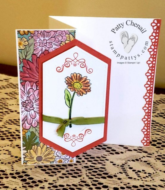 This fabulous trim-fold project is created using brand new, early released product from the Ornate Garden Product Suite from the upcoming 2020-2021 Annual Stampin' Up! catalog!