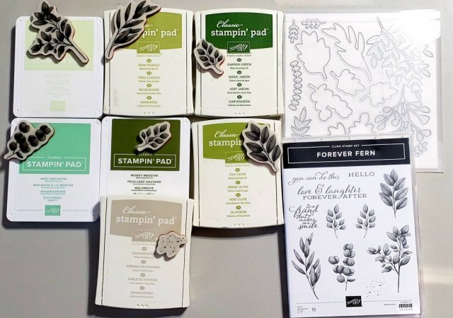 Forever Fern Bundle from Stampin' Up! Available started June 3, 2020